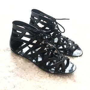 Dirty Laundry lace up gladiator sandals size 9